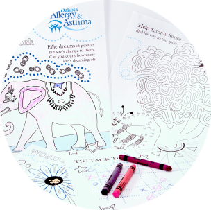 Coloring activity books for children suffering from asthma & allergies