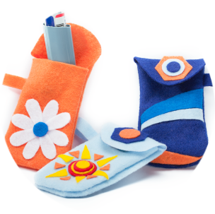 Fun, colorful pouches for kids to store his or her inhaler