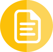 White paper icon with a yellow background
